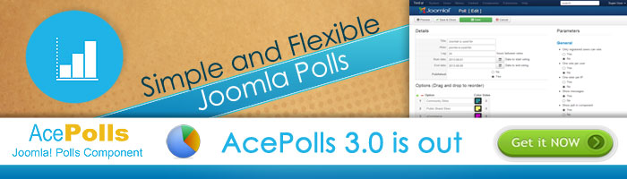 AcePolls 3.0 is out for Joomla 3 with new updates