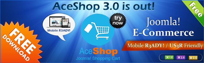 Free Joomla Ecommerce - AceShop updated