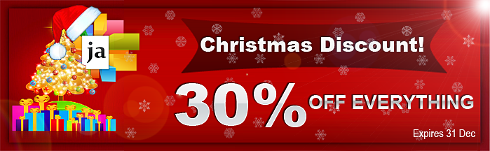 Merry Christmas: Special offer 30% OFF for you